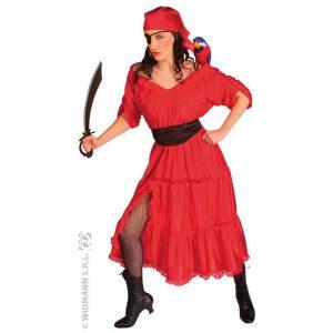 Déguisement femme pirate rouge