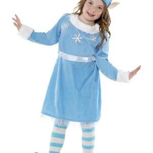 Déguisement lutin Noël enfant bleu clair