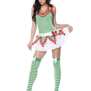 Déguisement lutine Noël vert pale