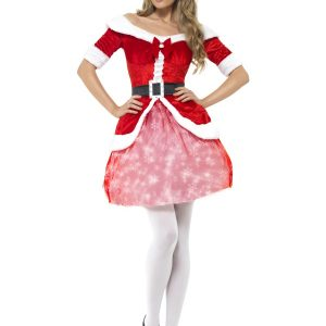 Déguisement Mère Noël robe courte élégante