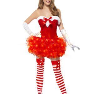 Déguisement Mère Noël robe rouge tutu