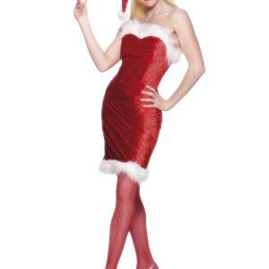 Déguisement Mère Noël sexy rouge bustier