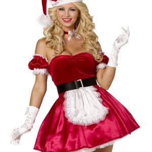 Déguisement Mère Noël sexy bustier
