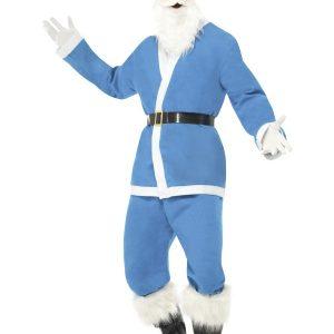 Déguisement Père Noël bleu clair