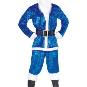 Déguisement Père Noël bleu