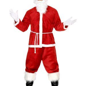Déguisement Père Noel rouge vif