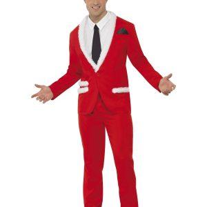 Déguisement Père Noel rouge chic