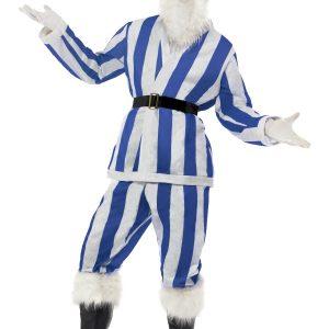 déguisement Père Noël rayé bleu et blanc
