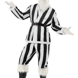 déguisement Père Noël rayé noir et blanc