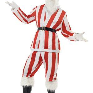 déguisement Père Noël rayé rouge et blanc