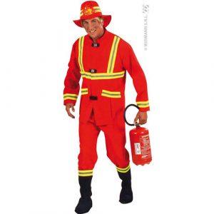 Déguisement pompier rouge