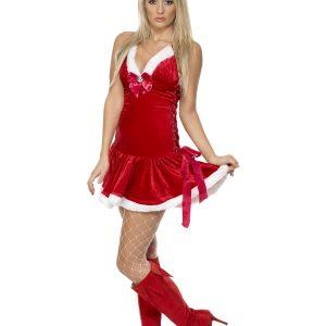 Déguisement robe Noël femme rouge