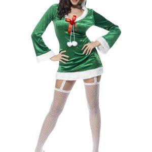 Déguisement robe courte verte sexy Noël