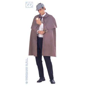 Manteau tissu capeline grise