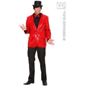 Veste paillettes show rouge