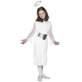 Costume enfant ange blanc argent