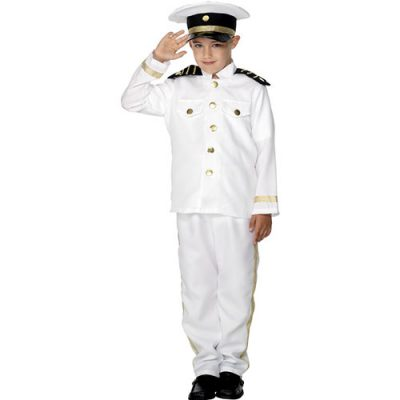 Costume enfant capitaine noir blanc