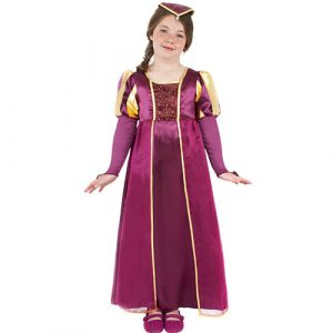 Costume enfant fille Tudor robe longue rose