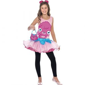 Costume enfant monstre Moshi Poppet rose