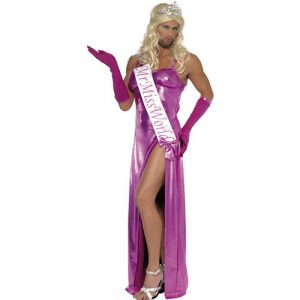 Costume homme Mr Miss Monde rose