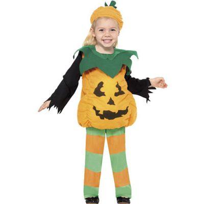 Costume enfant petite citrouille verte