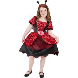 Costume enfant petite coccinelle rouge et noire