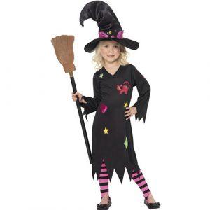 Costume enfant petite sorcière robe noire