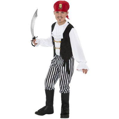 Costume enfant pirate noir blanc