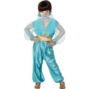 Costume enfant princesse arabe bleu