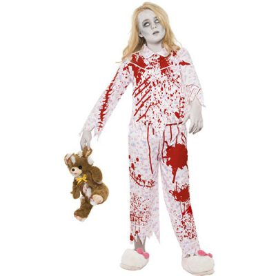 Costume enfant pyjama fille zombie