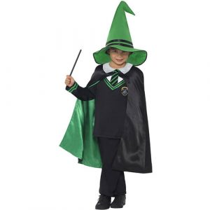 Costume enfant sorcier vert noir