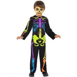 Costume enfant squelette fluo