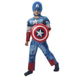 Costume enfant Captain America Marvel luxe rembourré