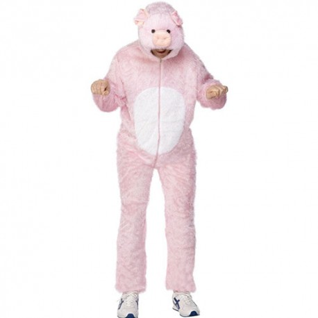 Costume homme cochon rose