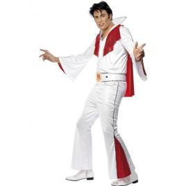 Costume homme Elvis blanc rouge