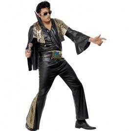 Costume homme Elvis noir doré