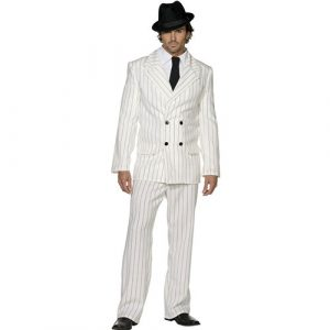 Costume homme gangster blanc