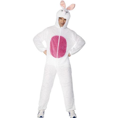 bonne vente brillance des couleurs taille 7 Costume homme lapin combinaison et cagoule blanc et rose ...