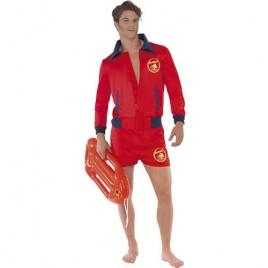 Costume homme maître nageur rouge