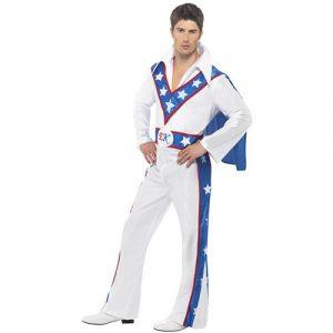 Costume homme motard Evel Knievel
