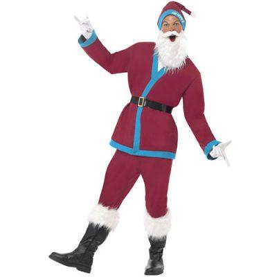 Costume homme père Noël bordeaux