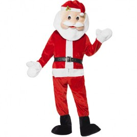 Costume homme père Noël mascotte