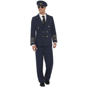 Costume homme pilote bleu marine