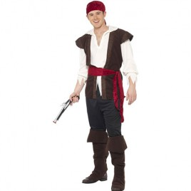 Costume homme pirate souriant