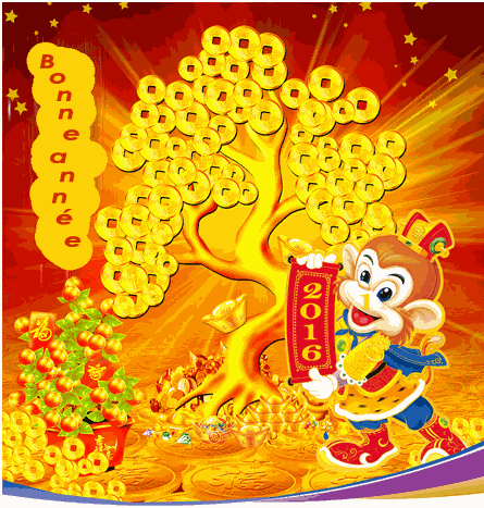 Nouvel an chinois : le singe de feu rouge