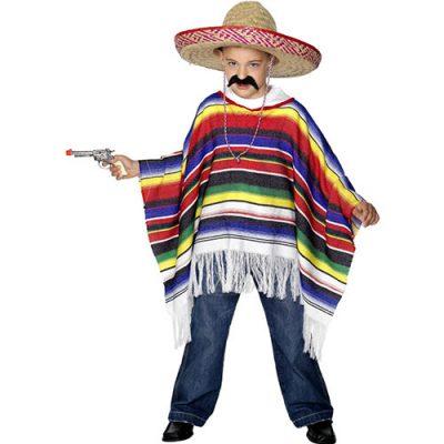 Costume enfant poncho coloré