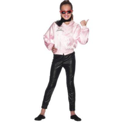 Costume enfant veste Grease rose fille
