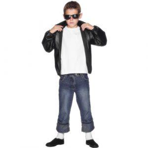 Costume enfant veste noire T-Bird