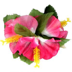 Barrette fleur hawaïenne Hibiscus