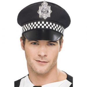 Casquette policier noire blanche